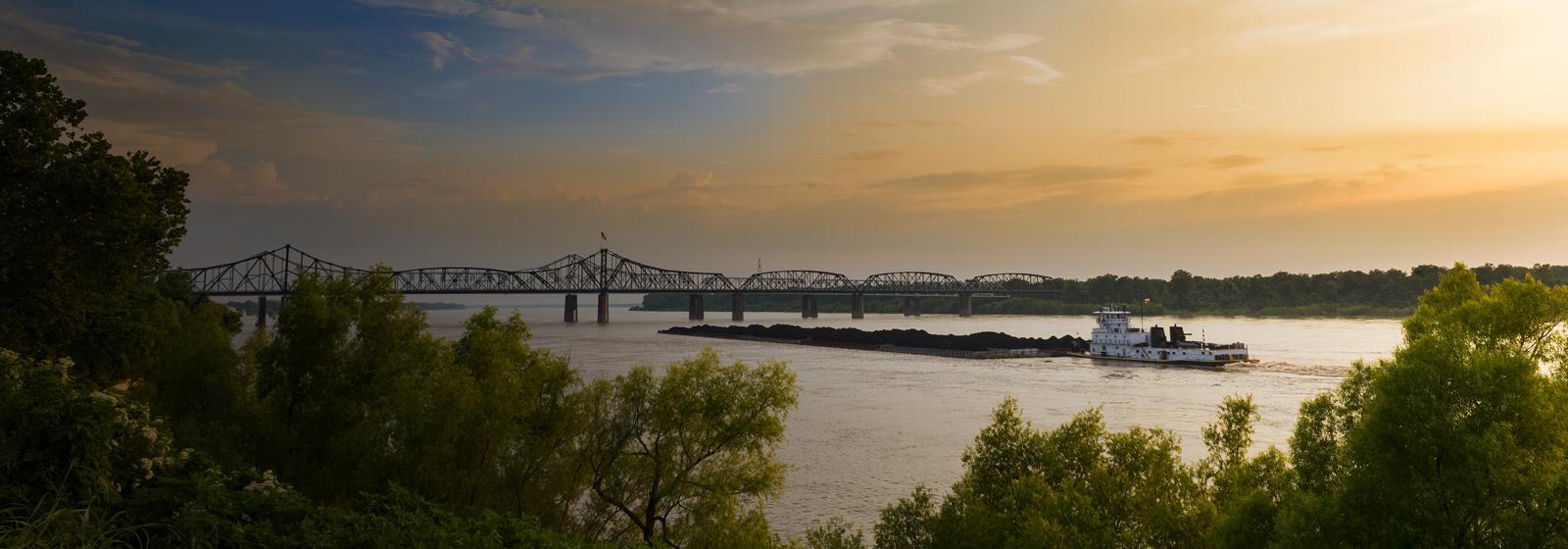 Vicksburg Bridge Mississippi River