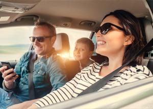 Family Driving Insured Car